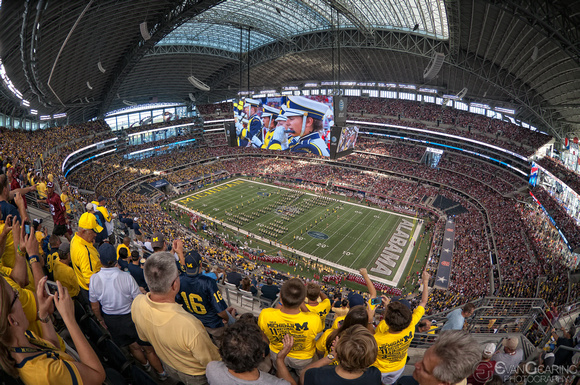 University of Michigan Band at Jerry's World