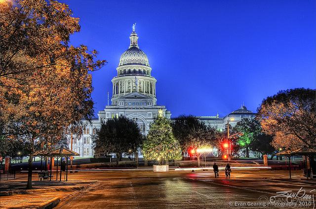 Texas Capitol Tree and Menorah