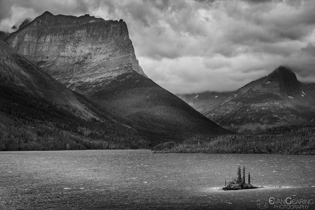 Wild Goose Island as it sits in St Mary Lake in Glacier National Park.