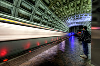 The Washington DC Metro Train